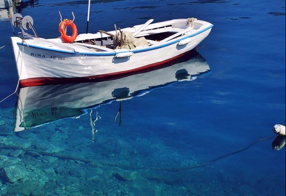 deep waters, boat and colours