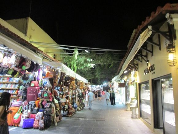 Rhodes Old Town at Night 2015
