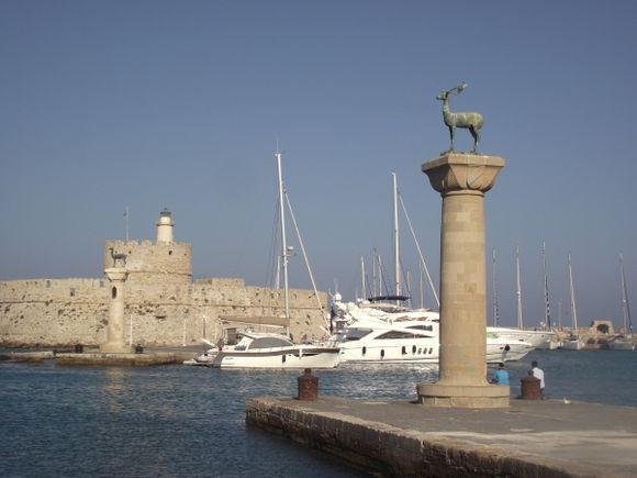 Mandraki harbour Rhodes
