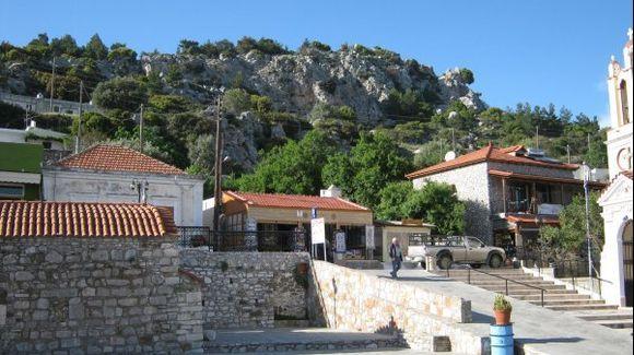 Rhodes Siana village centre