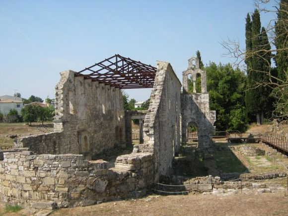 Corfu Town Church in the area of Mon Repos Palace