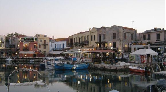 Rethymno town port