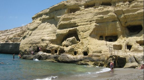 Crete Matala Caves