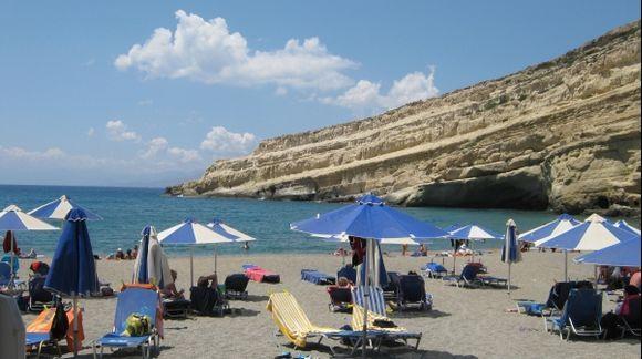 Crete Matala beach
