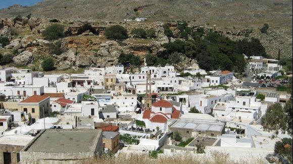 Rhodes Lindos village