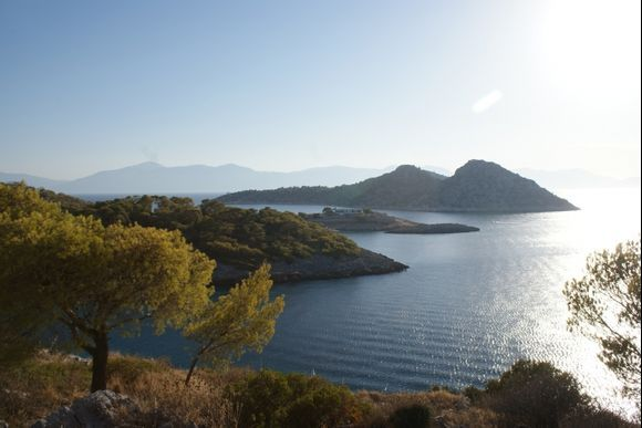 A view of Aponissos Island form high above the lake.... Agistri