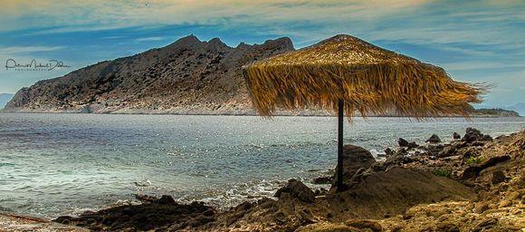 View of Moni Island from Perdika