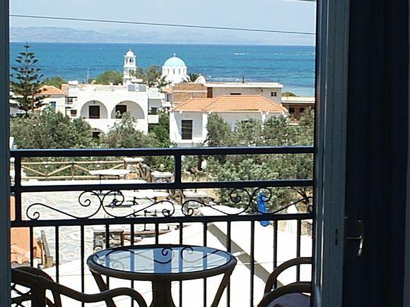 View from balcony at Hotel Andreas Skala