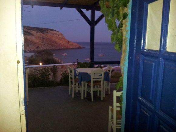 Twilight time in Provatas - Tarantela beach restaurant