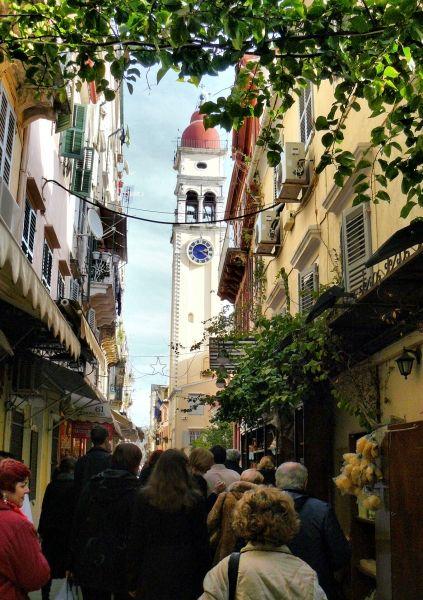 Corfu, street photo of the town