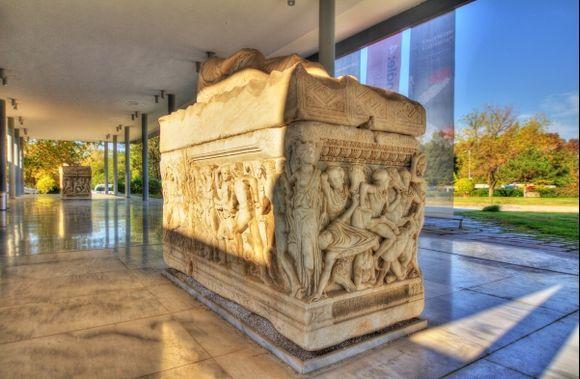 Archeological Museum Entrance Thessaloniki