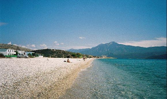 Mikali Beach at the south coast Samos