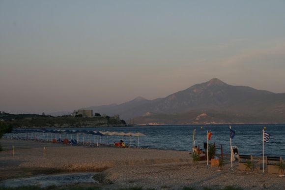 Last evening sun Potakaki beach
