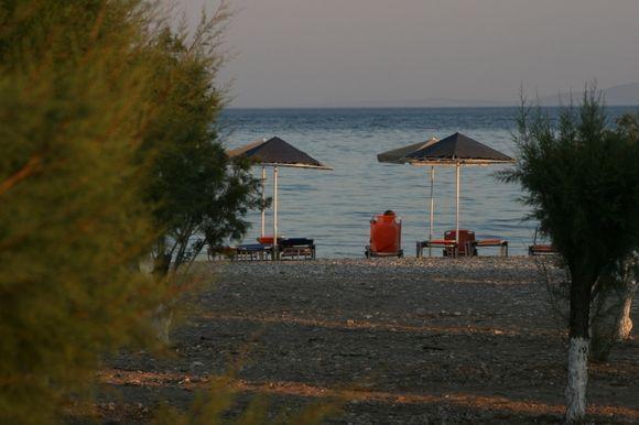 Last rays of sun potakaki beach
