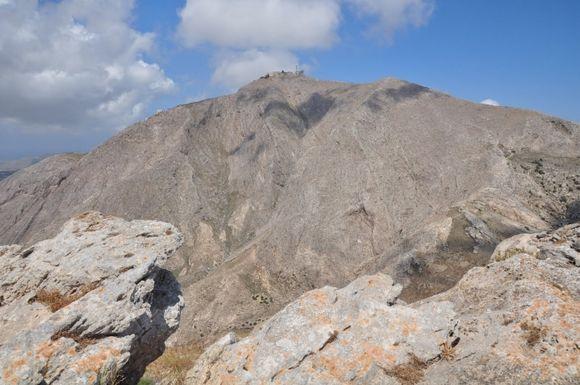 Profitis Ilias, the highest point of the island (567m)