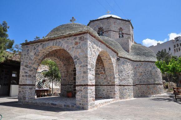 The monastery on the top of the Profitis Ilias