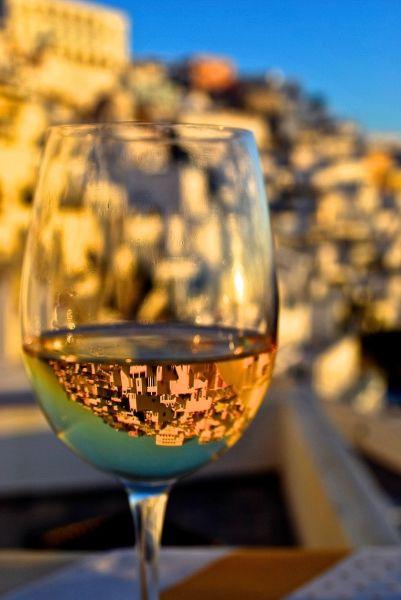 Drinking in Santorini