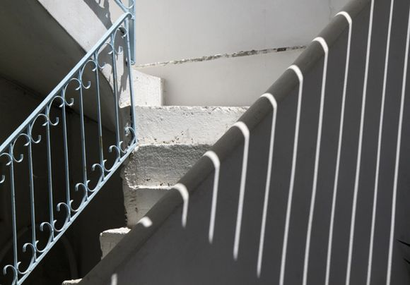 Bannister and shadows