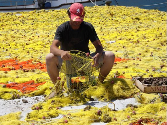 Fisherman with nets