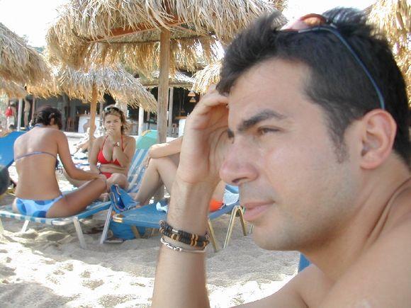 Mykonos, Stefano at Paradise beach