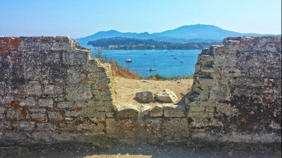 Corfu island, view from the Old Fortress
