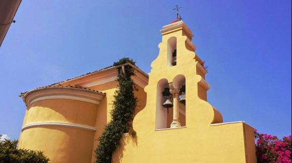 Corfu island, a view of the Paleokastritsa Monastery
