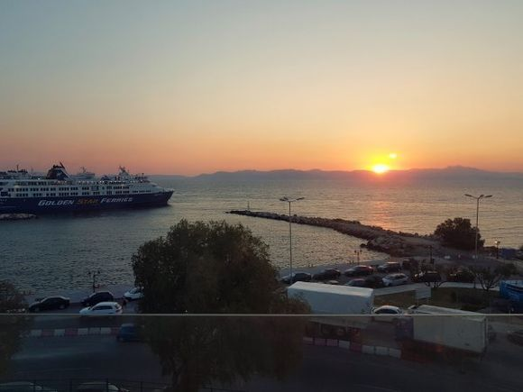 Rafina august 2017, view from Avra Hotel****, just few meters from the port