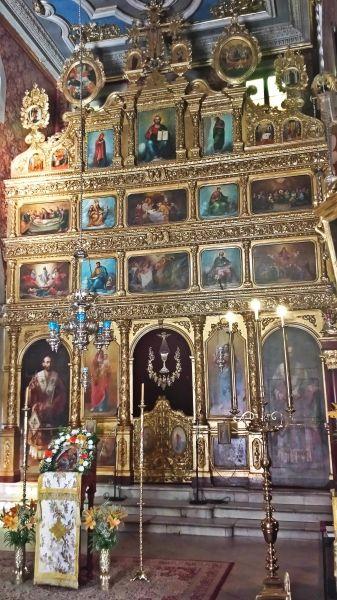 Corfu island, the interior of the Church of Saint Spyridon in Kerkira