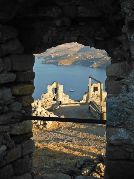 Leros island, view from the Medieval Castle in Pandeli