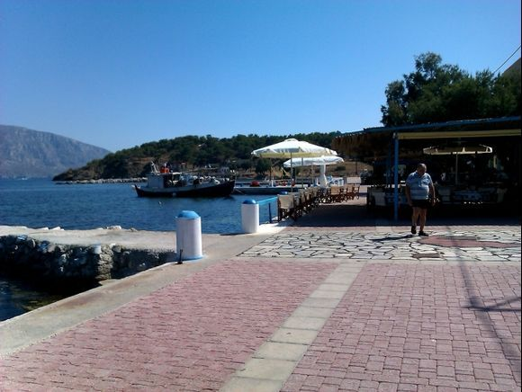 Telendos island, the small harbour of the beautiful island