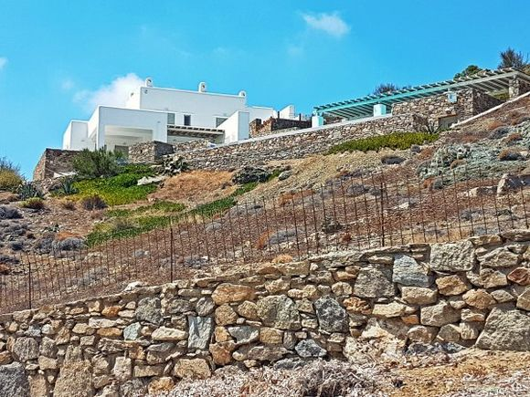Mykonos august 2017, luxury house with swimming pool in Fokos beach