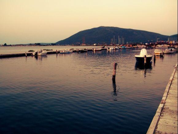 Lefkada island, the port of Lefkada town