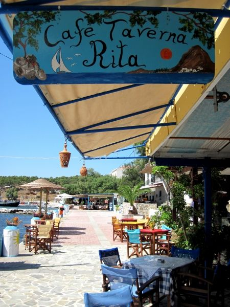Kalymnos island, Cafè Taverna Rita in Telendos island
