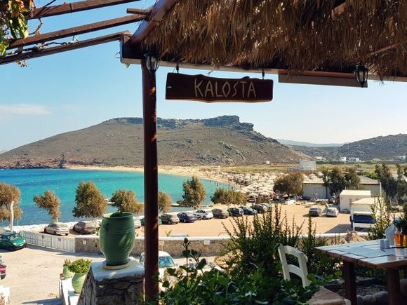Mykonos august 2017, Panormos is located on the northern side of the island and it is much secluded. Away from tourist facilities and water sports centres, Panormos is a calm and non-organized beach. Just an expensive Beach Vip Club. Visitors need private transport to get there as no bus or boat goes to Panormos.