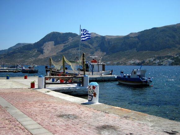 Kalymnos island, the port of Telendos
