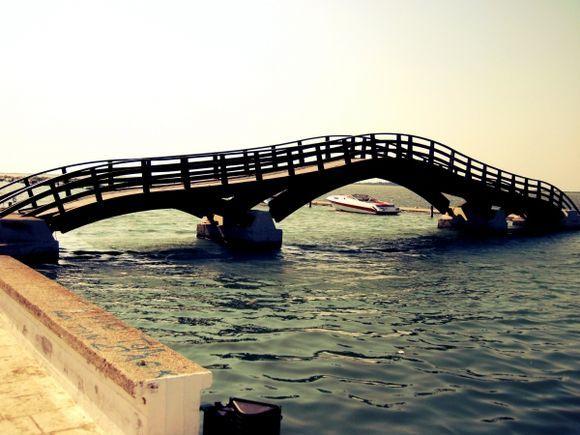 The bridge in Lefkada town