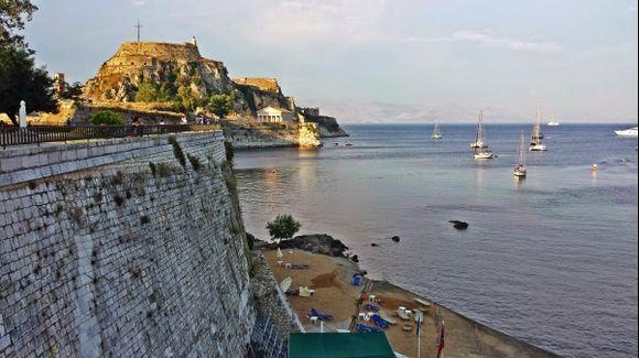 Corfu island, seaside close to the Old Fortress