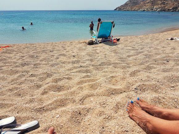 Mykonos august 2017, Agrari beach