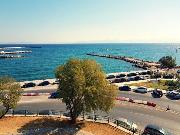 Rafina august 2017, view of the port from Avra Hotel****, where boats lives to islands.