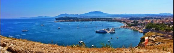 Corfu island, view of Kerkira from the Old Fortress