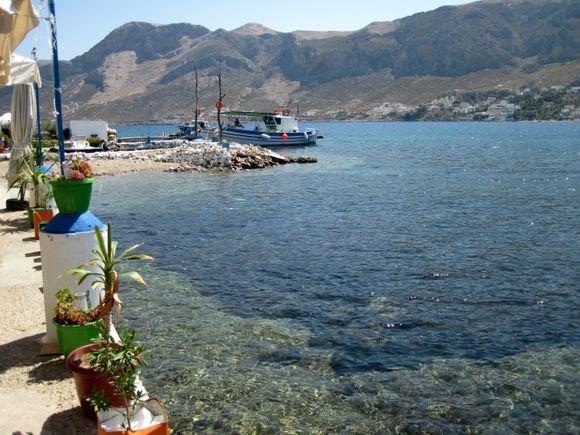 Kalymnos island, the port of Telendos island