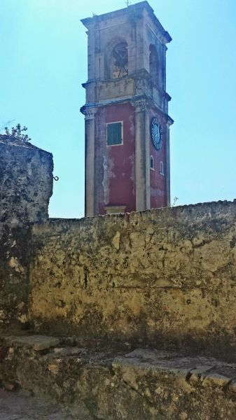 Corfu island, the Clock Tower in the Old Fortress