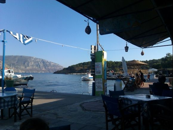 Telendos island, view from the Taverna Rita, situated in the small port of the island