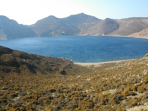Patmos, the Psili Ammos Beach in August!!!