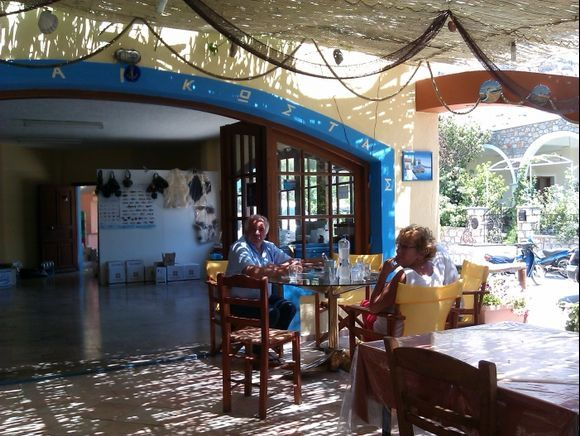 Kalymnos island, Captain Kostas Tavern in Emborios beach