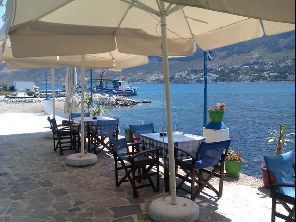 Telendos island, the beautiful harbour of the small island in front of Kalymnos