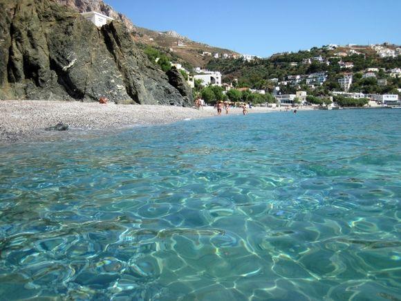 Kalymnos island, the beach of Myrties