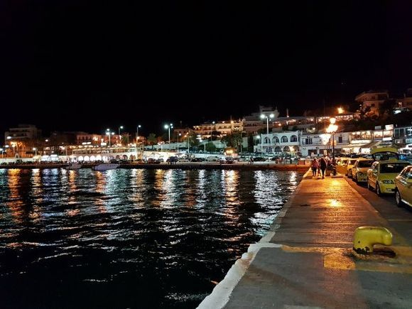 Rafina august 2017, night view of the port