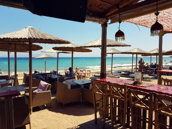 Rafina august 2017, Tzitziki beach bar close to the port