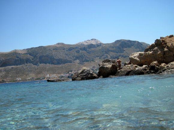 Telendos island (Kalymnos), the official naturist Paradise beach